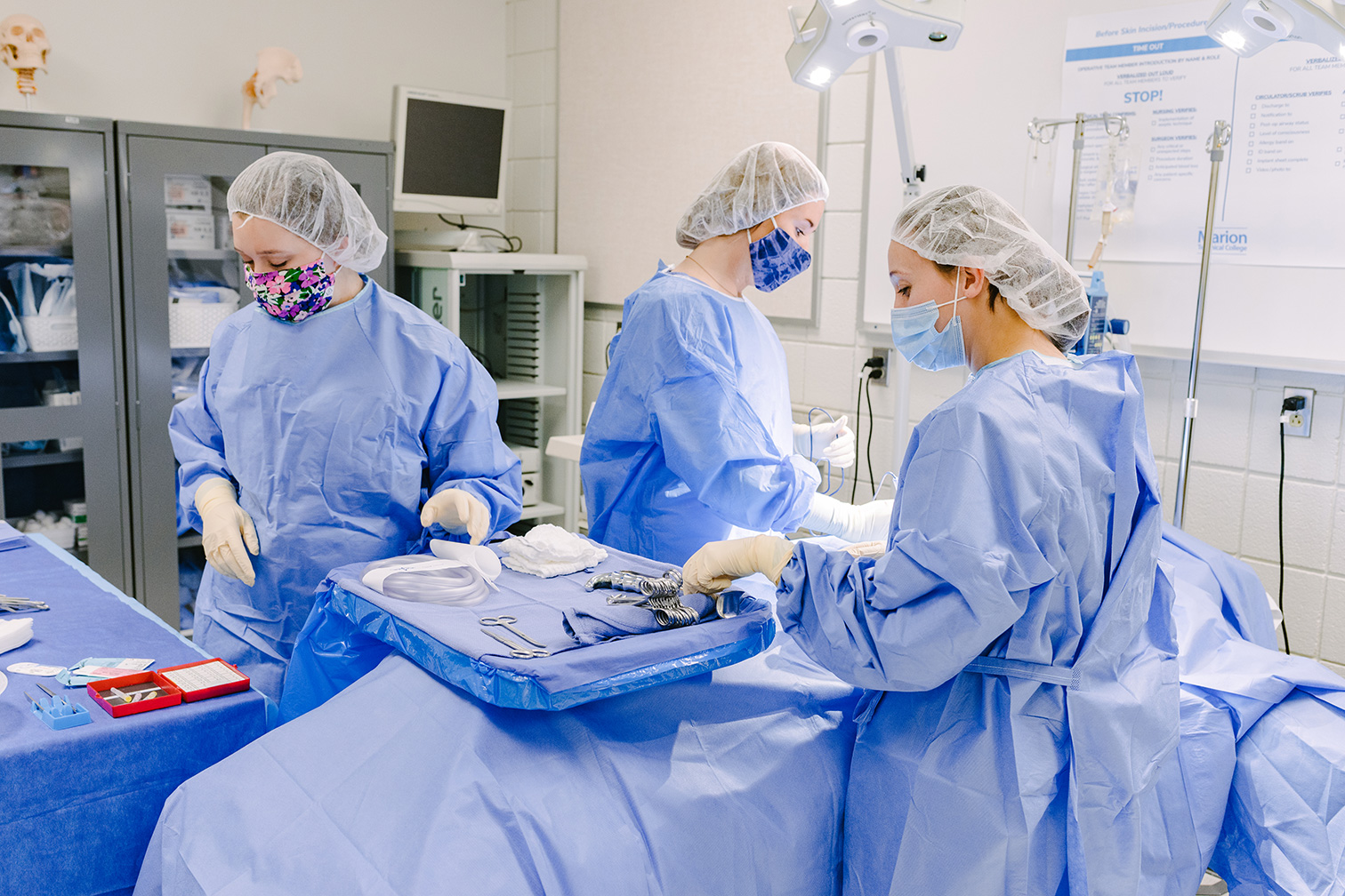Students in Surgical Technology Lab